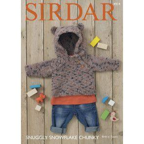 Hoodie in Sirdar Snuggly Snowflake Chunky (4914)