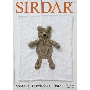 Animal Blankets in Sirdar Snuggly Snowflake Chunky (4915)