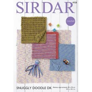 Blankets in Sirdar Snuggly Doodle DK (4928)