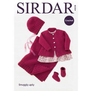 Coat, Hat, Bootees and Blanket in Sirdar Snuggly 4 Ply (4939)