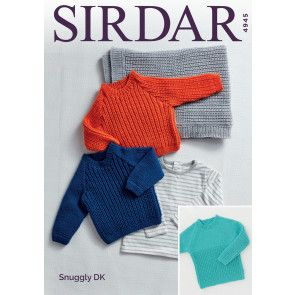 Sweaters and Blankets in Sirdar Snuggly DK (4945)