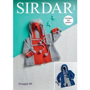 Coat and Hat in Sirdar Snuggly DK (4947)
