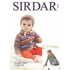 Cardigans and Bonnet in Sirdar Snuggly Baby Crofter DK (5154)