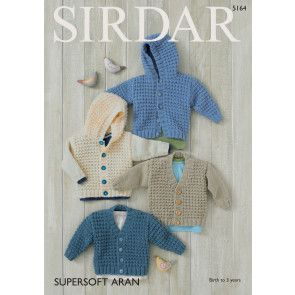 Cardigans in Sirdar Supersoft Aran (5164)