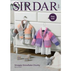 Cardigans in Sirdar Snuggly Snowflake Chunky (5197)