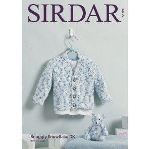 Cardigan and Teddy Bear in Sirdar Snuggly Snowflake DK (5199)
