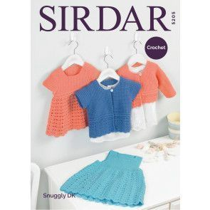 Pinafore, Dress and Cardigans in Sirdar Snuggly DK (5205)