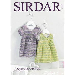 Dresses in Sirdar Snuggly Baby Crofter DK (5214)