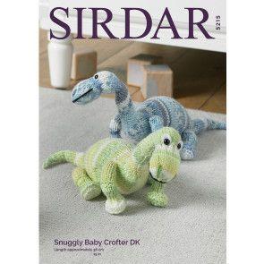 Dinosaur in Sirdar Snuggly Baby Crofter DK (5215)