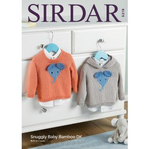 Sweaters in Sirdar Snuggly Baby Bamboo DK (5219)