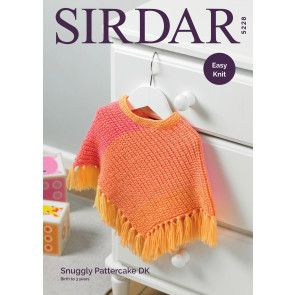 Poncho in Sirdar Snuggly Pattercake DK (5228)