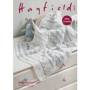 Blanket in Hayfield Baby Blossom DK (5231)