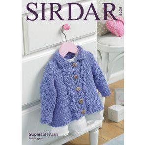 Jacket in Sirdar Supersoft Aran (5238)