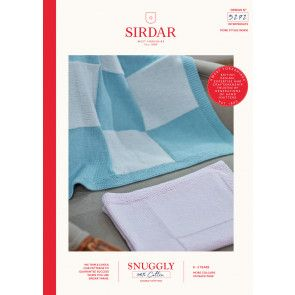 Blankets knitted in Sirdar Snuggly 100% Cotton DK (5272)