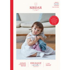 Rabbit and Bear Comforters in Sirdar Snuggly 100% Cotton DK (5273)