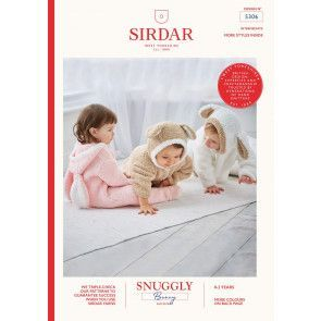 Various All-in-Ones in Sirdar Snuggly Bunny (5306)