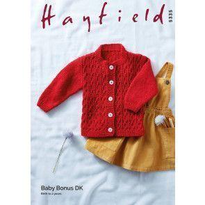 Cardigan in Hayfield Baby Bonus DK (5335)