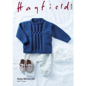 Sweater in Hayfield Baby Bonus DK (5336)