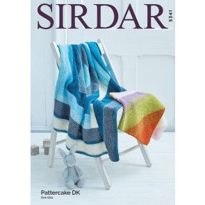 Blankets in Sirdar Snuggly Pattercake (5341)