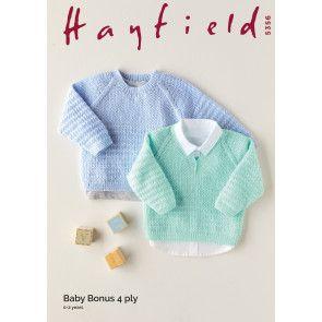 Sweaters in Hayfield Baby Bonus 4 Ply (5356)