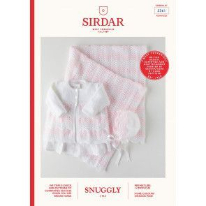 Coat, Bonnet and Blanket in Sirdar Snuggly 3 Ply (5361)
