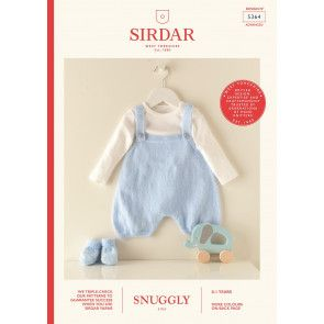 Romper and Bootees in Sirdar Snuggly 3 Ply (5364)