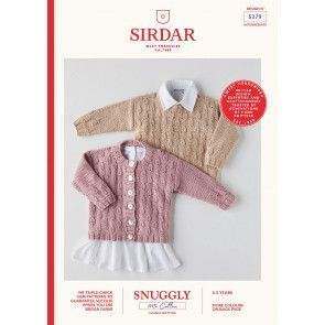 Cardigan and Sweater in Sirdar Snuggly 100% Cotton DK (5379)