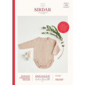 Romper in Sirdar Snuggly Cashmere Merino Silk 4 Ply (5389)
