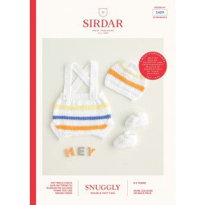 Romper, Hat and Shoes in Sirdar Snuggly DK (5409)