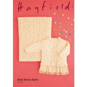Cardigan and Blanket in Hayfield Baby Bonus Spots (5440)
