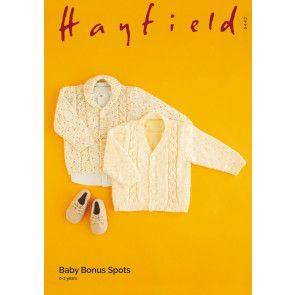 Cardigans in Hayfield Baby Bonus Spots (5442)
