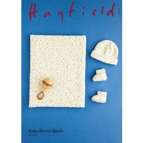 Blanket, Hat and Bootees in Hayfield Baby Bonus Spots (5445)