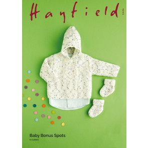 Jacket and Bootees in Hayfield Baby Bonus Spots (5446)