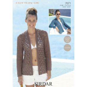 Jackets in Sirdar Cotton DK (7071)