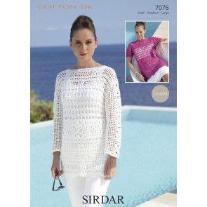 Tunic in Sirdar Cotton DK (7076)
