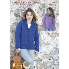 Cardigans in Hayfield Chunky with Wool (7381)