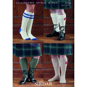 Socks in Sirdar Country Style 4 Ply (7728)