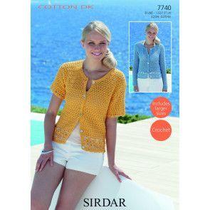 Cardigan in Sirdar Cotton DK (7740)