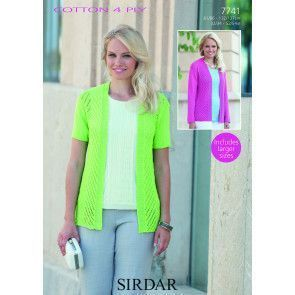 Jacket in Sirdar Cotton 4 Ply (7741)