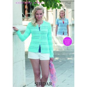 Cardigans in Sirdar Cotton 4 Ply (7742)