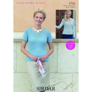 Top in Sirdar Cotton 4 Ply (7743)