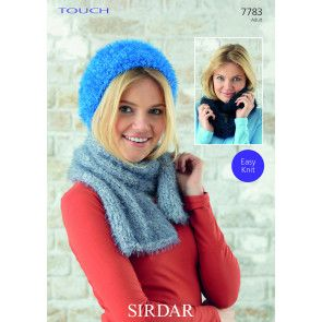 Hat, Scarf and Snood in Sirdar Touch (7783)