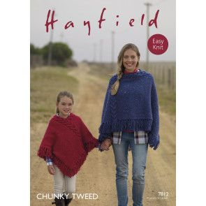 Poncho in Hayfield Chunky Tweed (7812)