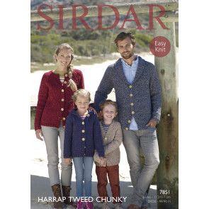 Cardigans in Sirdar Harrap Tweed Chunky (7851)
