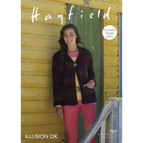 Women's Jacket in Hayfield Illusion DK (7857)