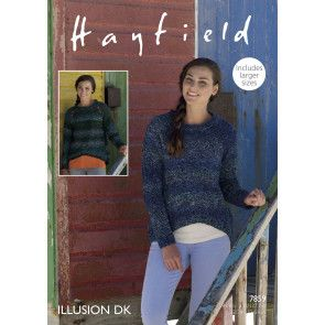 Sweaters in Hayfield Illusion Dk (7859)