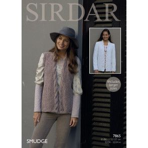 Ladies Jacket and Waistcoat in Sirdar Smudge (7865)