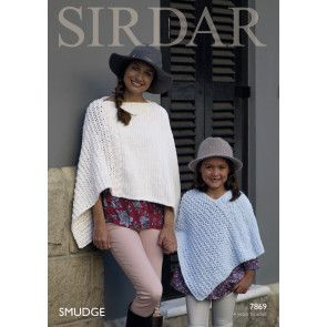 Poncho in Sirdar Smudge (7869)