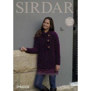 Jacket in Sirdar Smudge (7871)