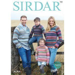 Sweaters in Sirdar Aura (7884)